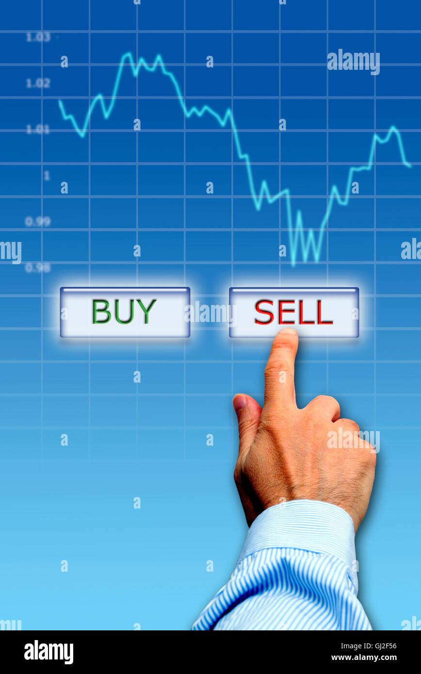 concept for markets bearish - Stock Image