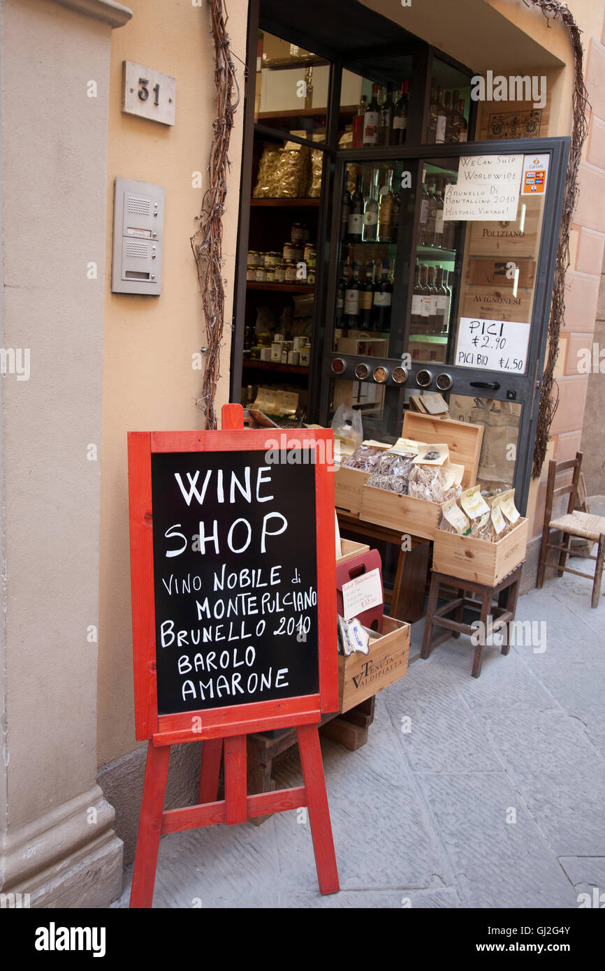 Wine Shop Montepulciano Tuscany Italy High Resolution Stock Photography And Images Alamy