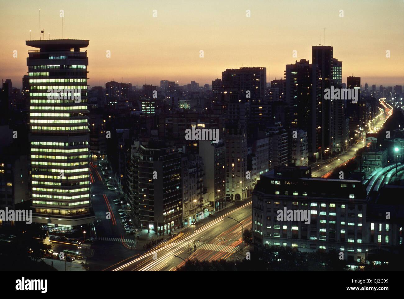 avenida st fe, buenos aires, argentina, south america - Stock Image
