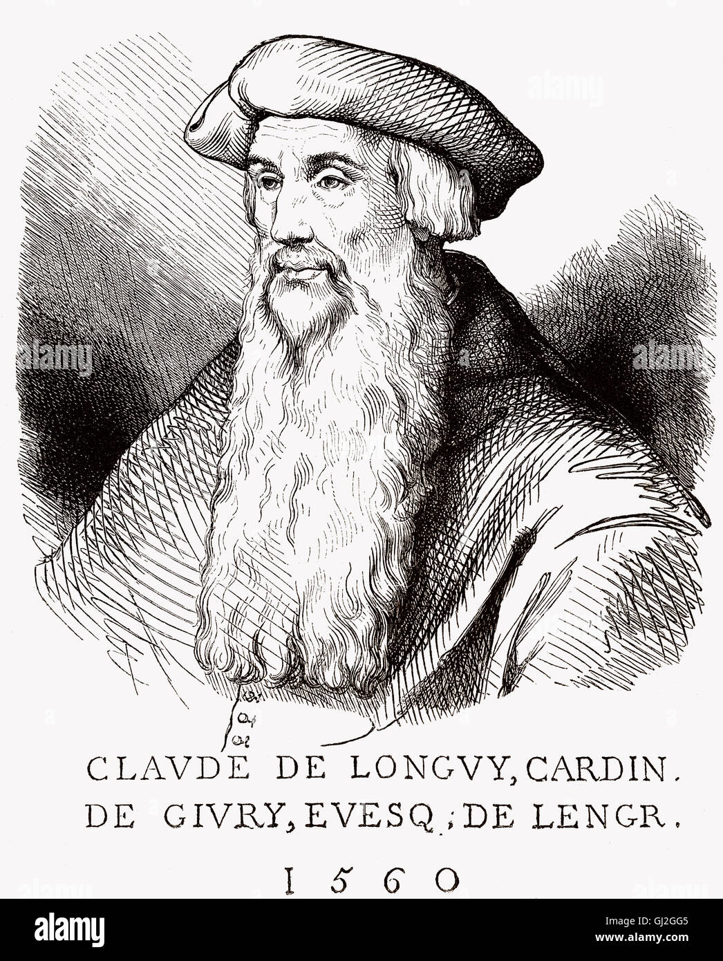 Claude de Longwy de Givry, 1481-1561, a French bishop and Cardinal - Stock Image