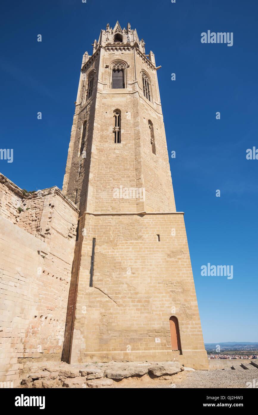 La Seu Vella cathedral in Lleida, Catalonia, Spain. - Stock Image