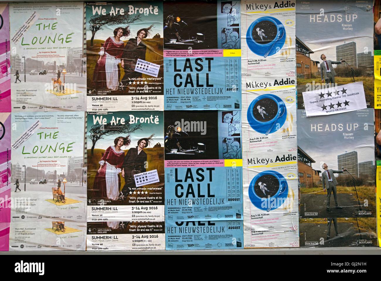 Edinburgh Fringe Festival Posters Outside Summerhall