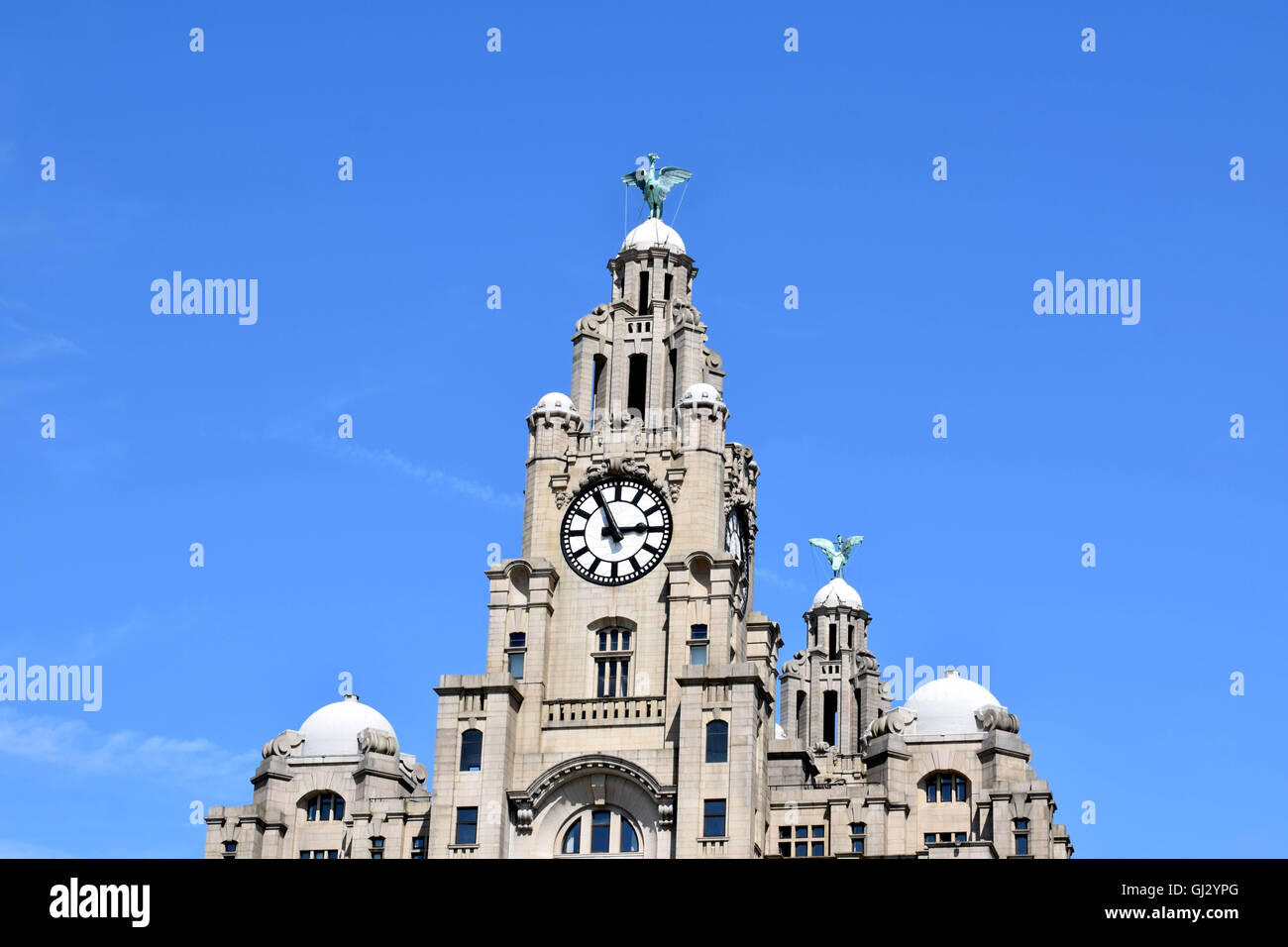 Liverpool liver building - Stock Image