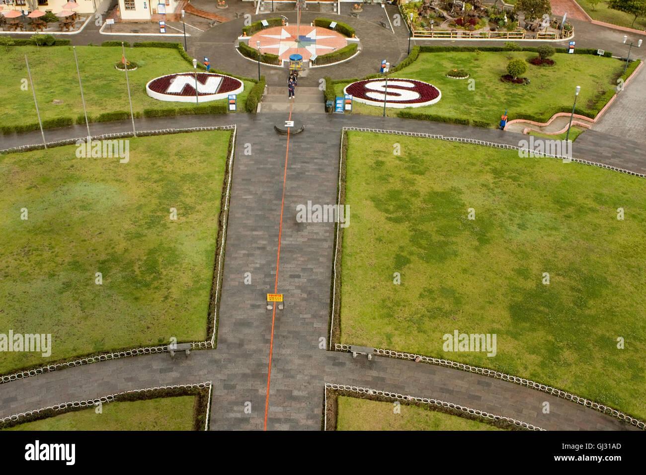 Equator line in Quito Ecuador - Stock Image