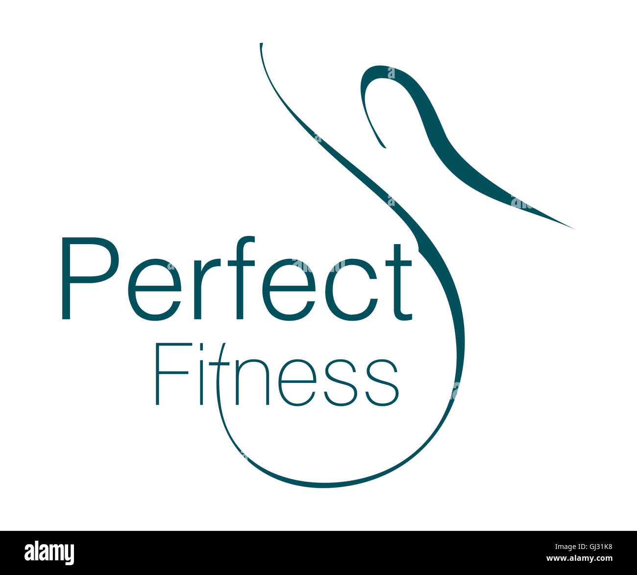 Logo Design For Fitness Club Stock Photo 114393196 Alamy