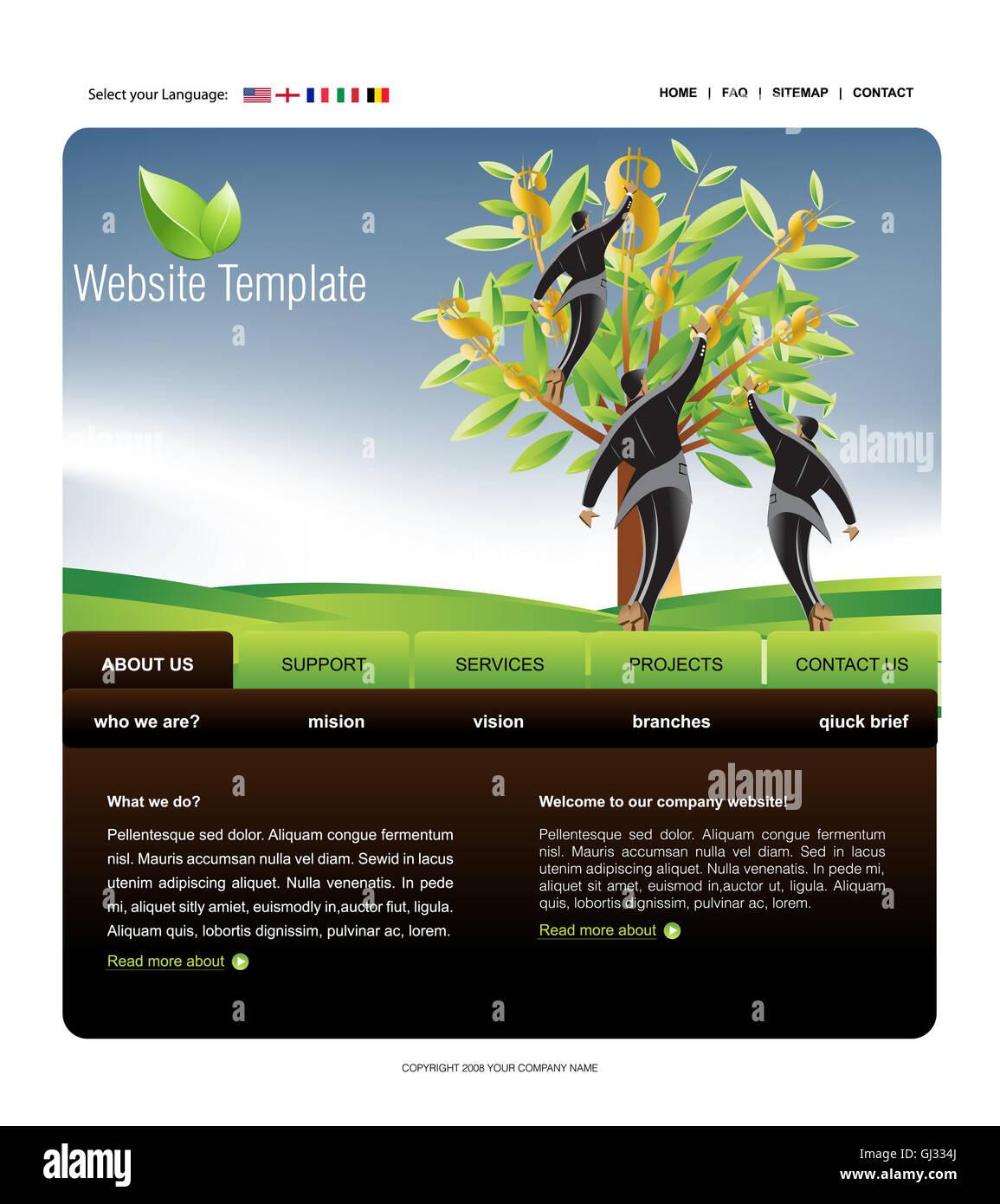Website Template - Stock Image