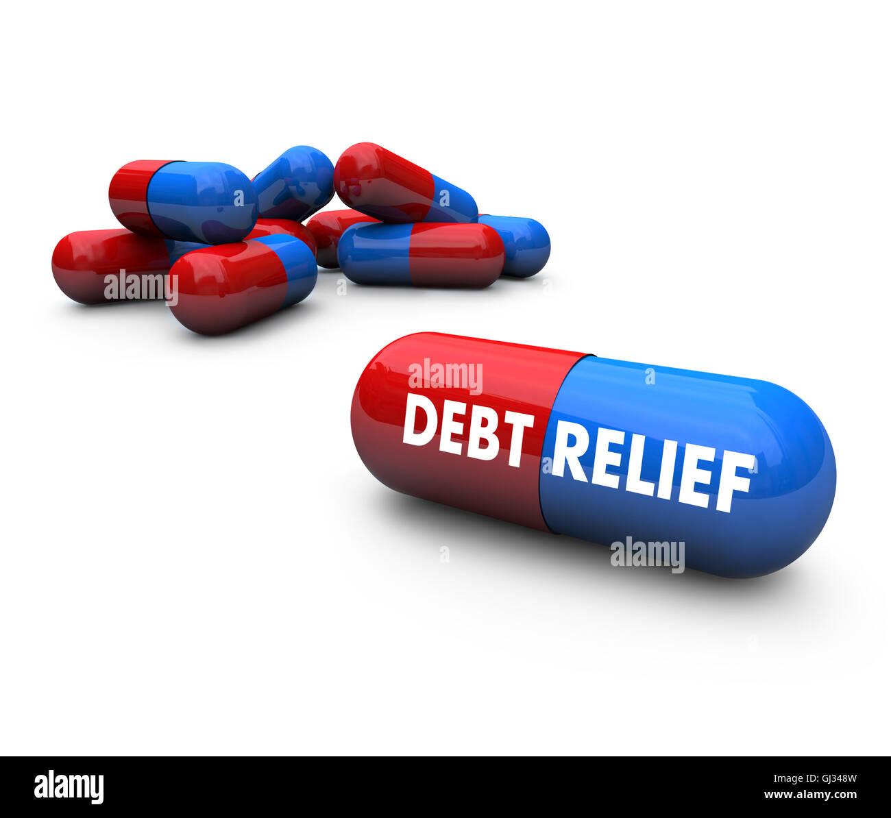 Pills - Debt Relief - Stock Image