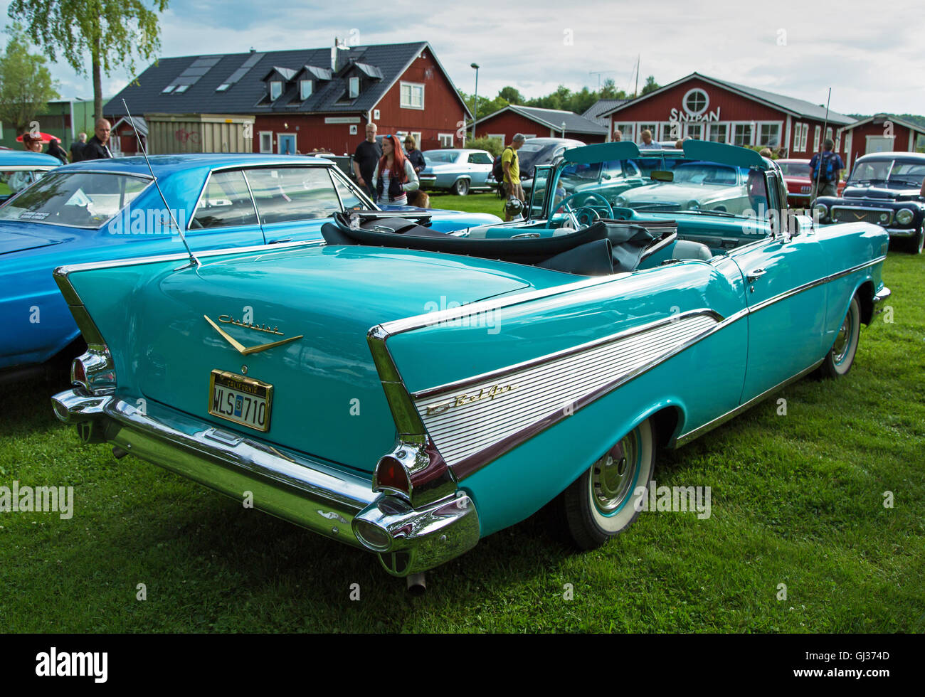 Chevrolet Bel Air Stock Photos Images Alamy 1957 Chevy Convertible Lowrider Yer Image