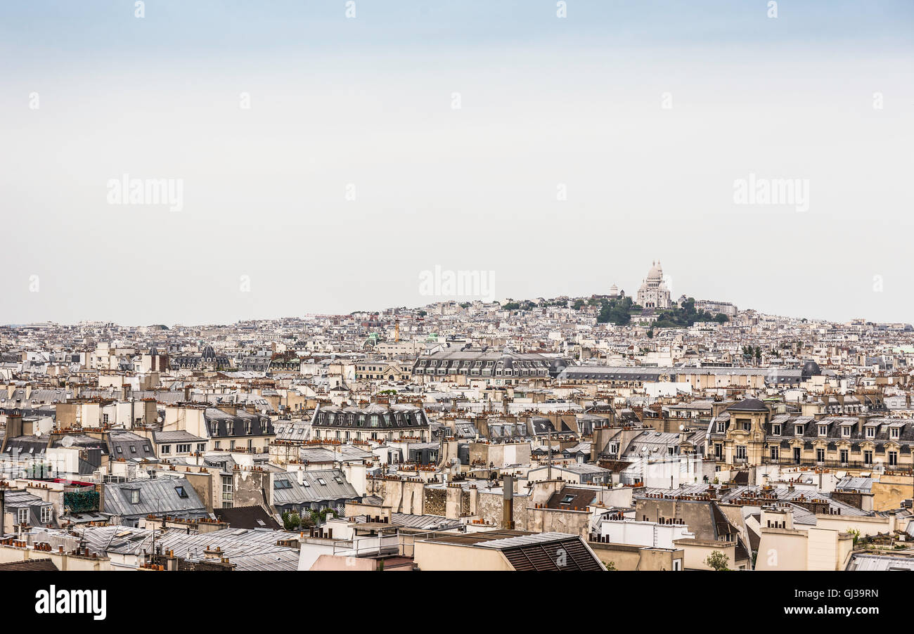 View from Centre Georges Pompidou, Paris, France - Stock Image