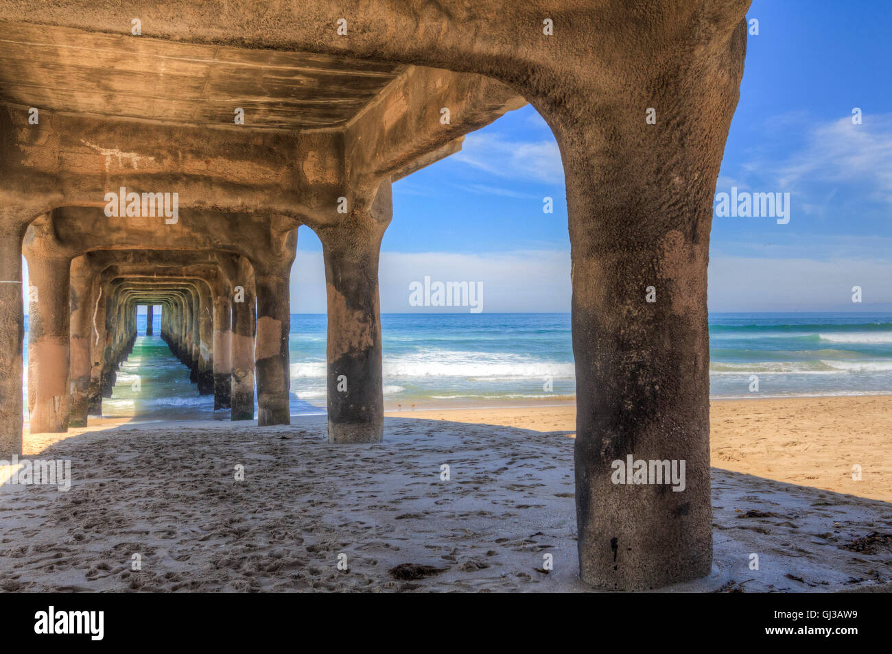 Manhattan Beach Pier, California, USA - Stock Image