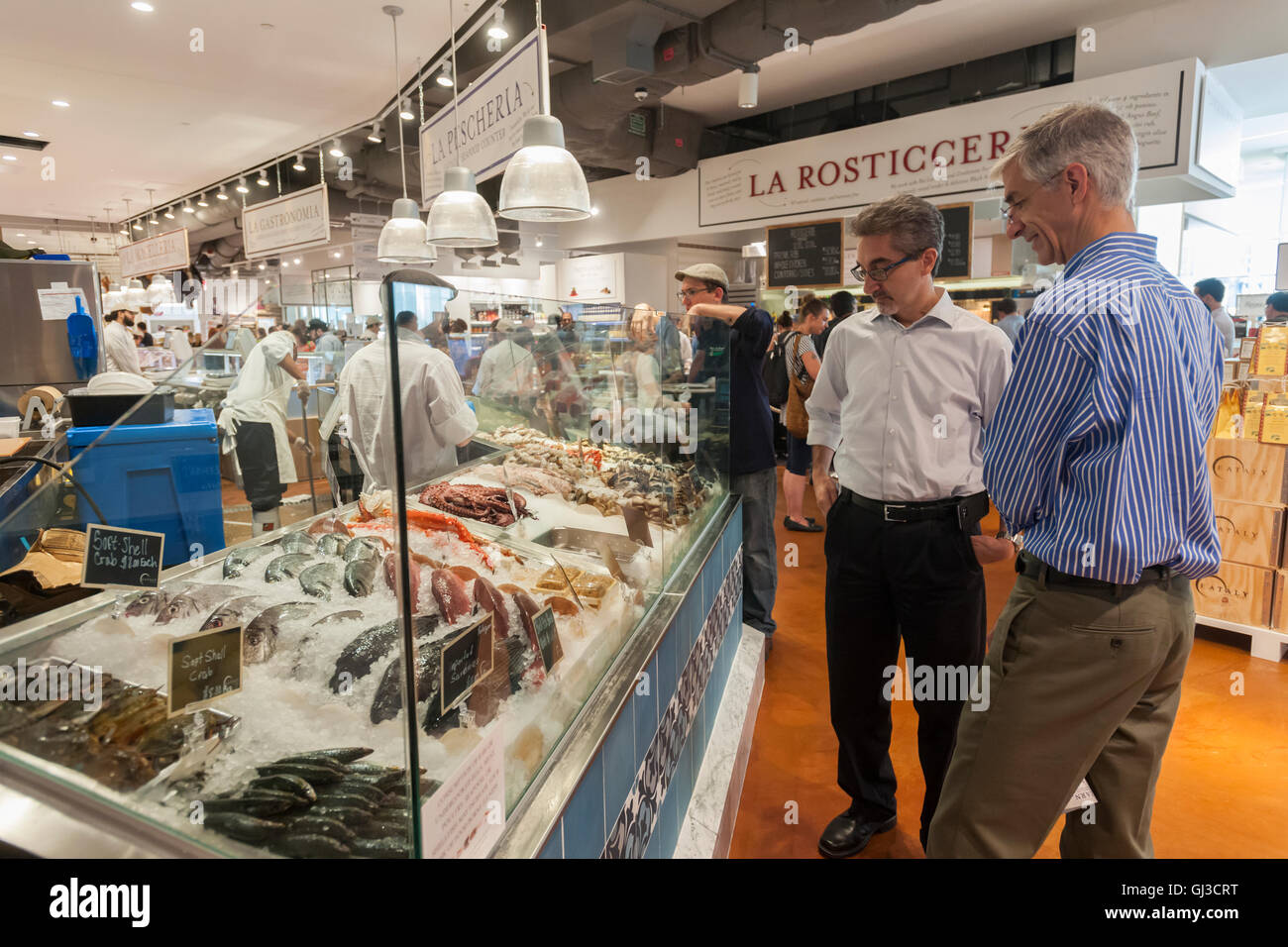 La Pescheria at the grand opening of Eataly Downtown in Lower Manhattan in New York on Thursday, August 11, 2016. - Stock Image