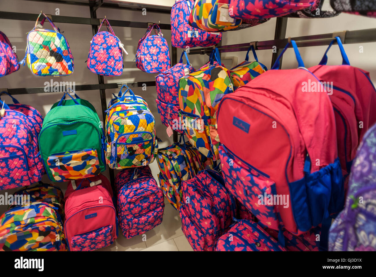 308ee66002 A back to school display of Vera Bradley backpacks in Macy s in New York on  Tuesday