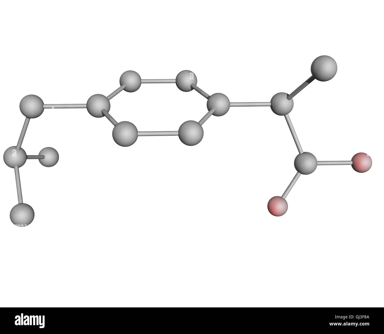 Hydrogen Oxygen Stock Photos Images Alamy 3d Atom Diagram This Is Our First Illustration Of Ibuprofen Molecule With Atoms In Red Color Atomsnot Shown