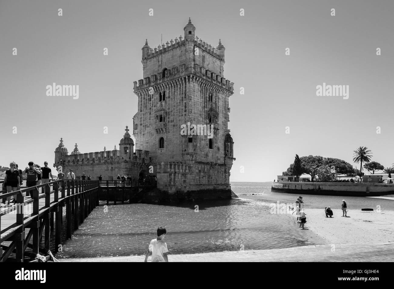 Belem Tower in Lisbon, Portugal. - Stock Image