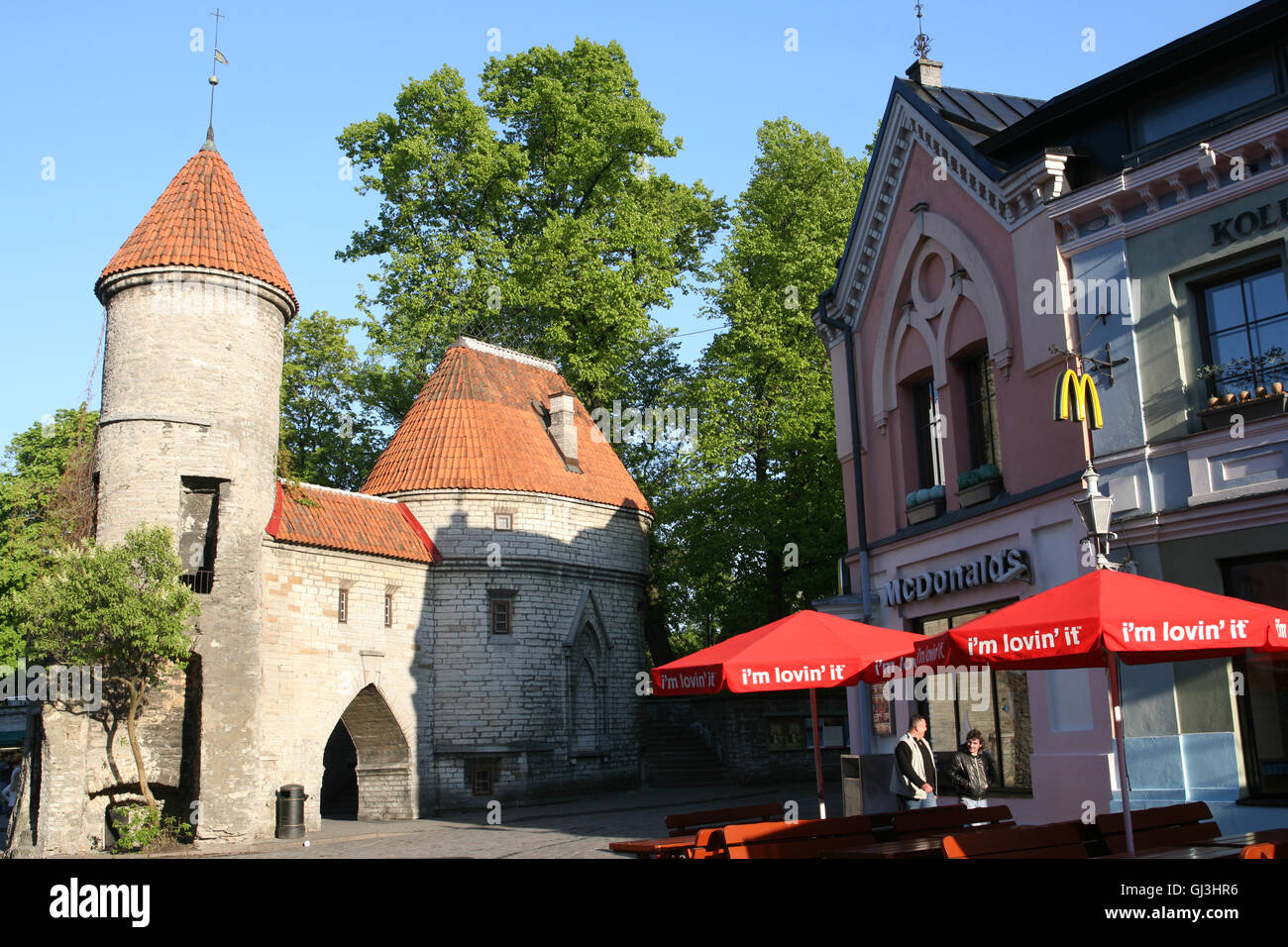 Mcdonalds At Viru Gate A Symbol Of Tallinn Which Is At The