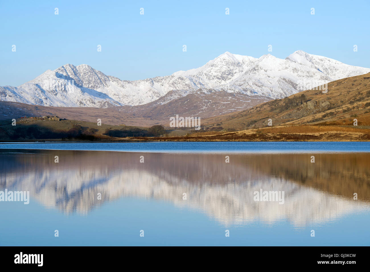 Snowdon mountain range, Snowdonia, North Wales, UK - Stock Image