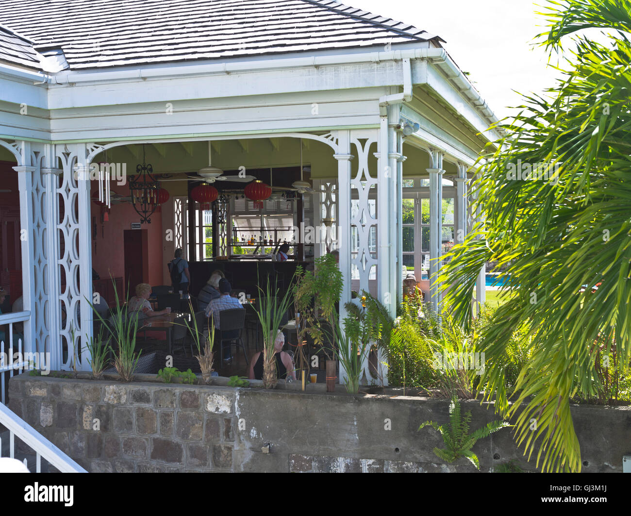 Dh Fairview Great House ST KITTS CARIBBEAN Old Colonial Tourist Bar