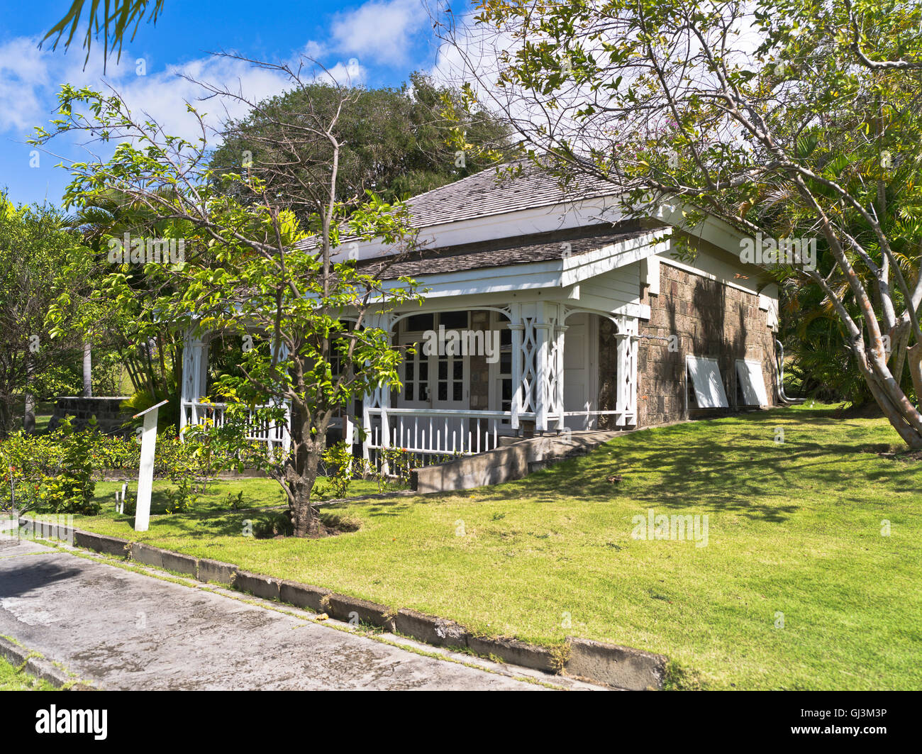 Dh Fairview Great House ST KITTS CARIBBEAN Old Colonial Museum Nelsons Garden Building