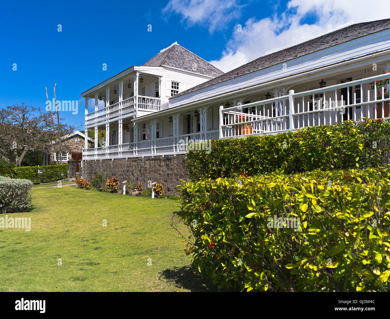 Dh Fairview Great House ST KITTS CARIBBEAN Old Colonial Museum Nelsons Garden Exterior Gardens Nobody
