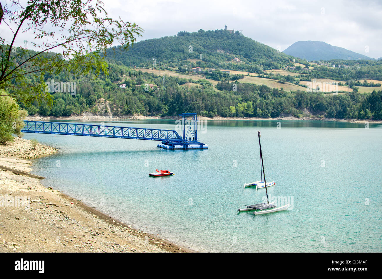 Suviana Lake - Bologna province - emilia-romagna - Stock Image