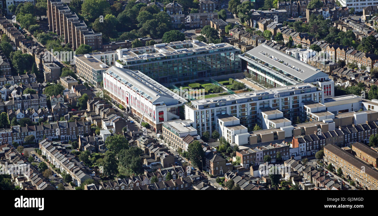 aerial view of the Highbury Square Development, former home of Arsenal FC, London N5 - Stock Image