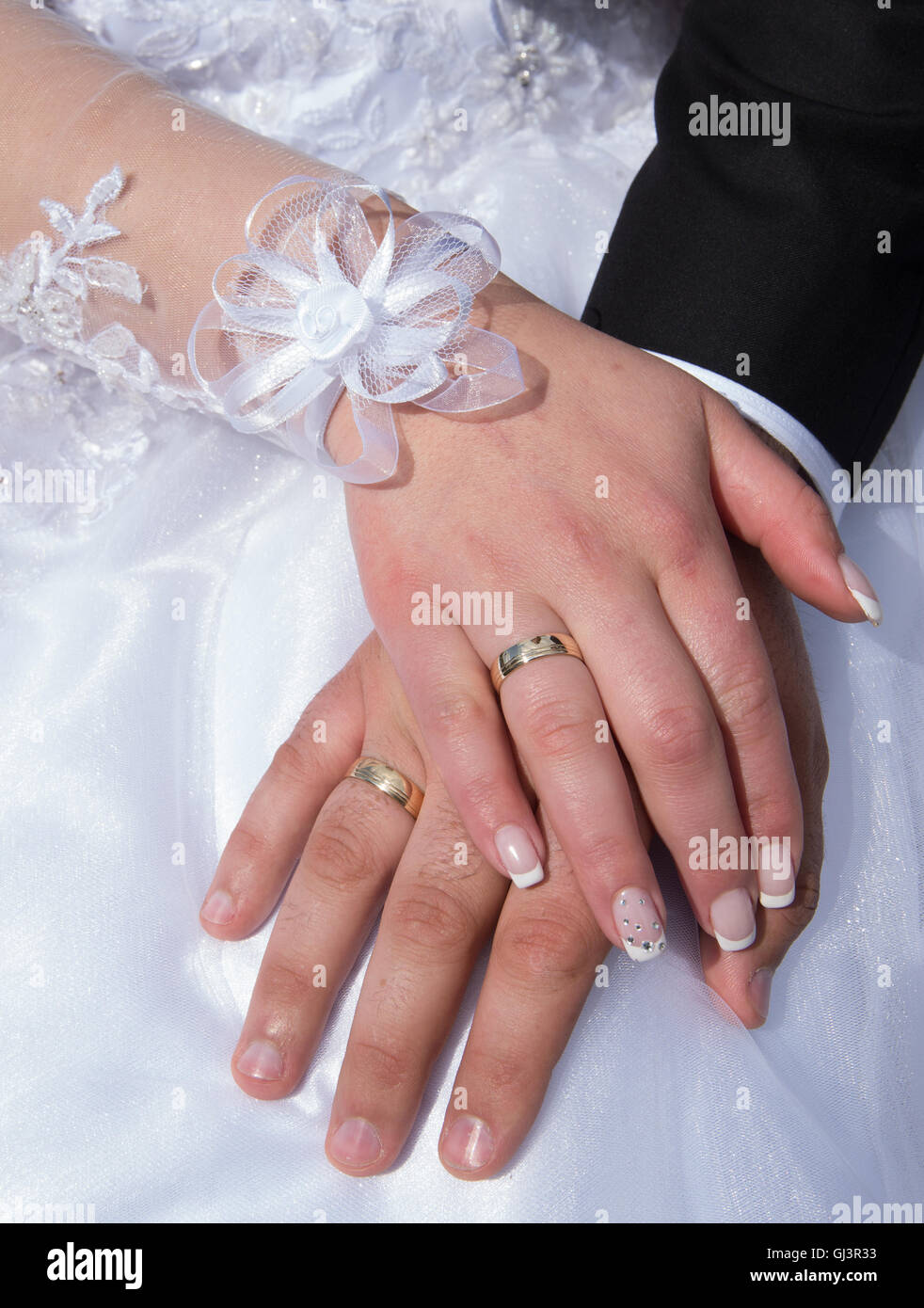 Woman Hand Hands Ring Greeting Stock Photos & Woman Hand Hands Ring ...