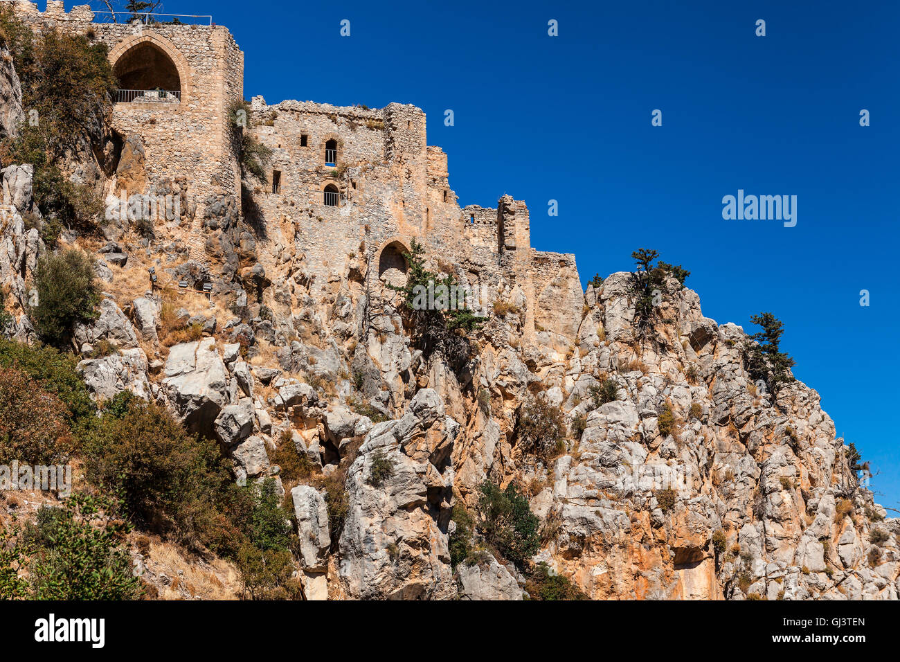 The Saint Hilarion Castle in North Cyprus. - Stock Image