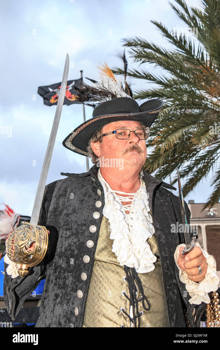 Contraband Days in Lake Charles, Louisiana, celebrating the days of pirate Jean Lafitte. - Stock Image