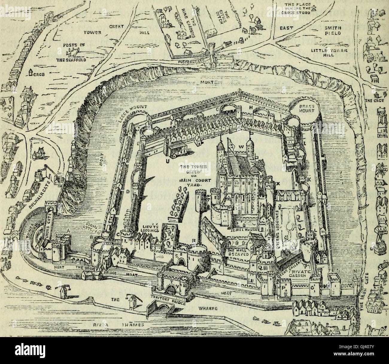 The Pictorial handbook of London - comprising its antiquities, architecture, arts, manufacture, trade, social, literary, - Stock Image