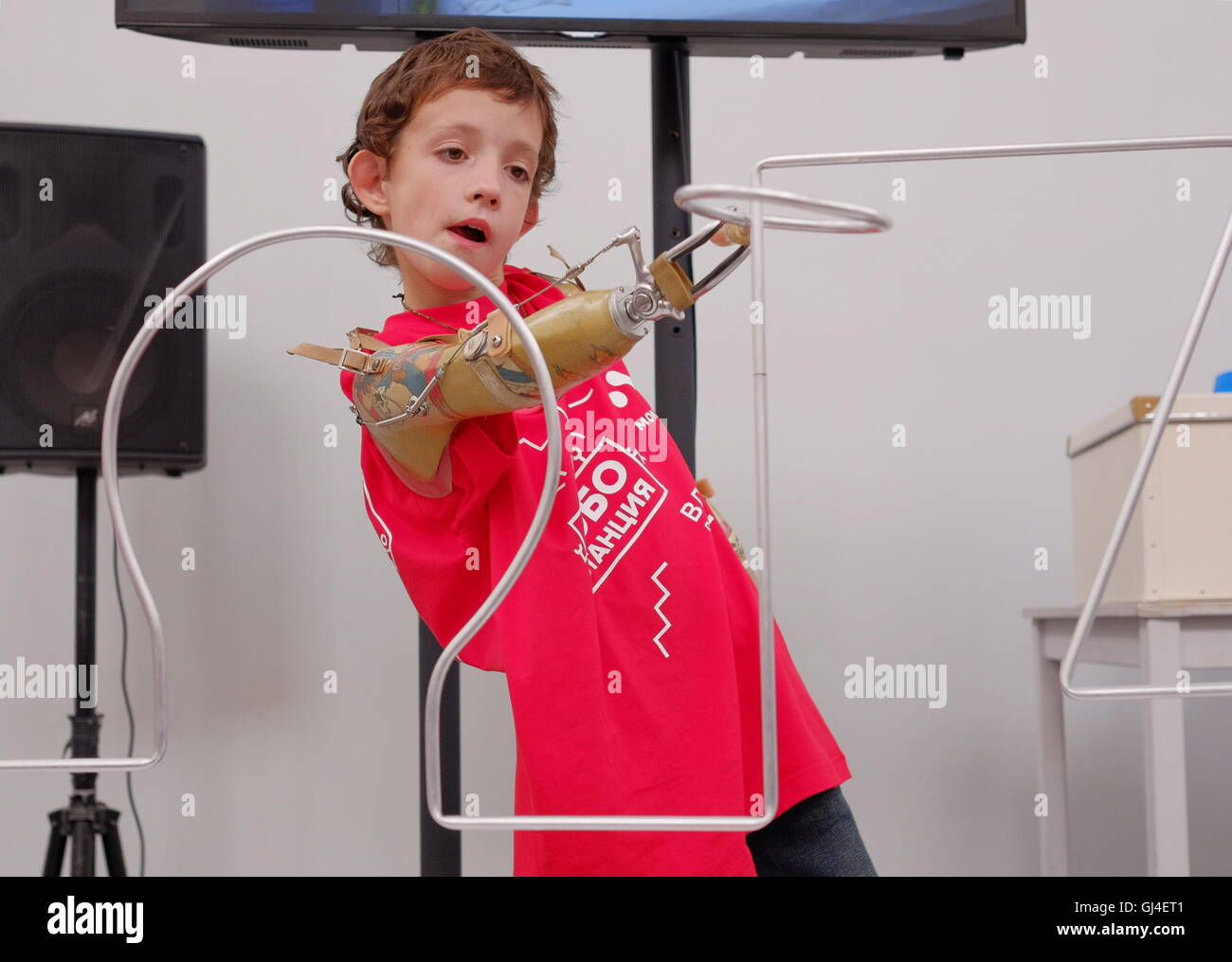 prosthetic limb child stock photos \u0026 prosthetic limb child stockmoscow, russia 13th aug, 2016 a participant in the cybathlon competition for