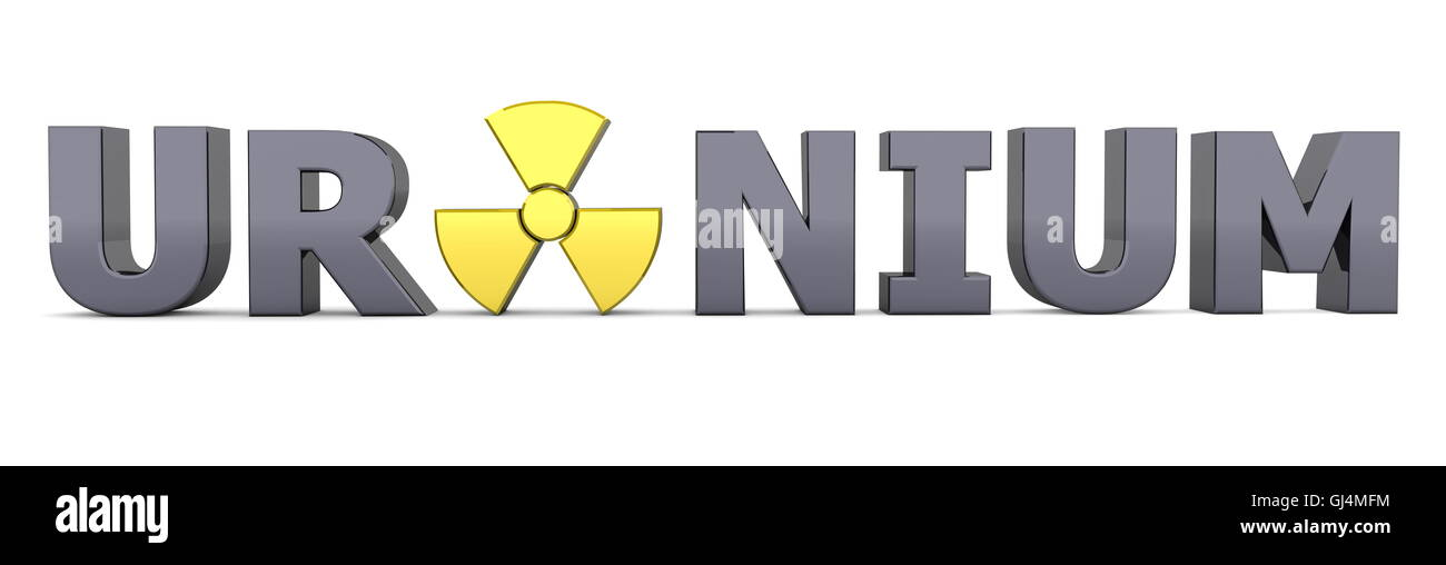 Black Word Uranium Yellow Nuclear Symbol Stock Photo 114429944