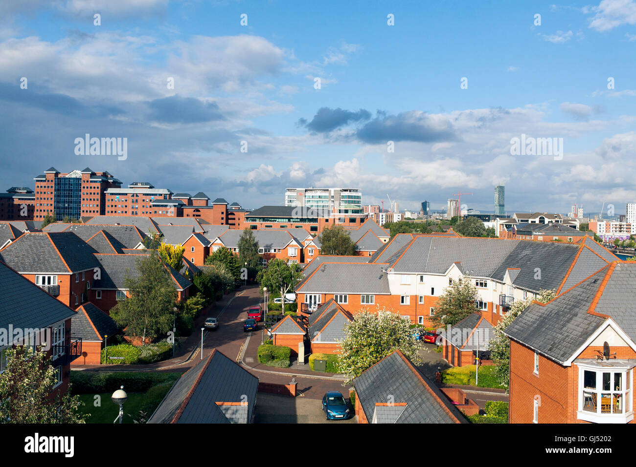 Salford Quays Looking Towards Manchrster City Centre - Stock Image