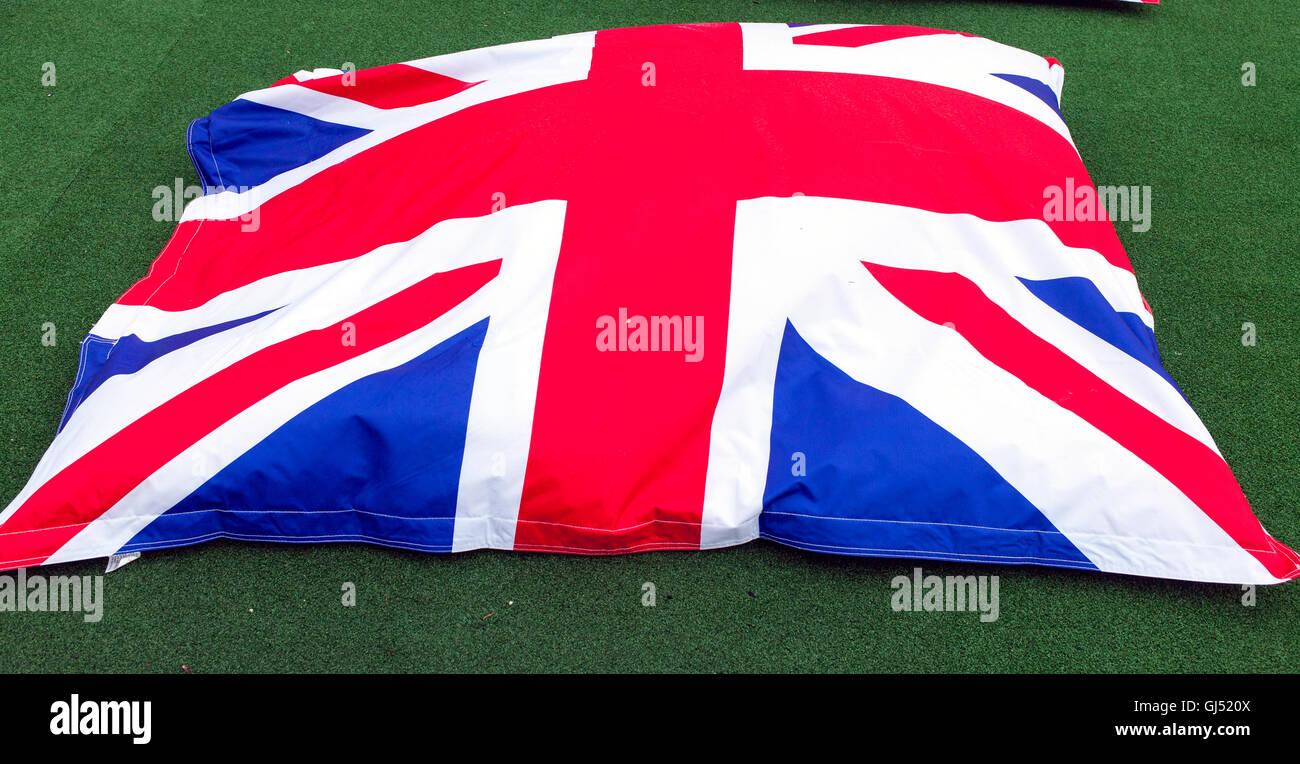 Union Jack Beanbag - Stock Image