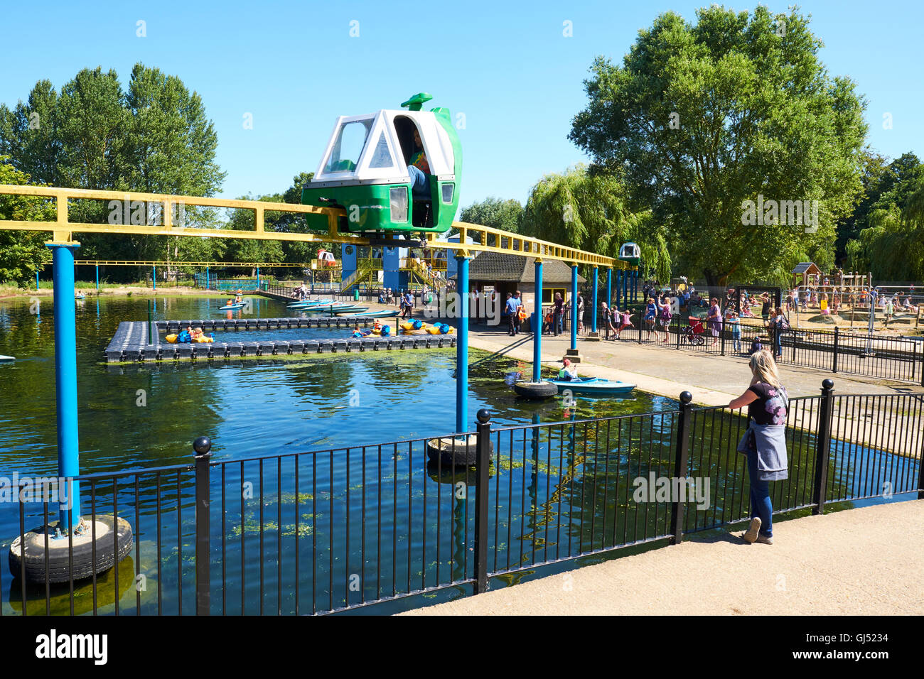 Monorail At Wicksteed Park The Second Oldest Theme Park In The UK Kettering Northamptonshire - Stock Image