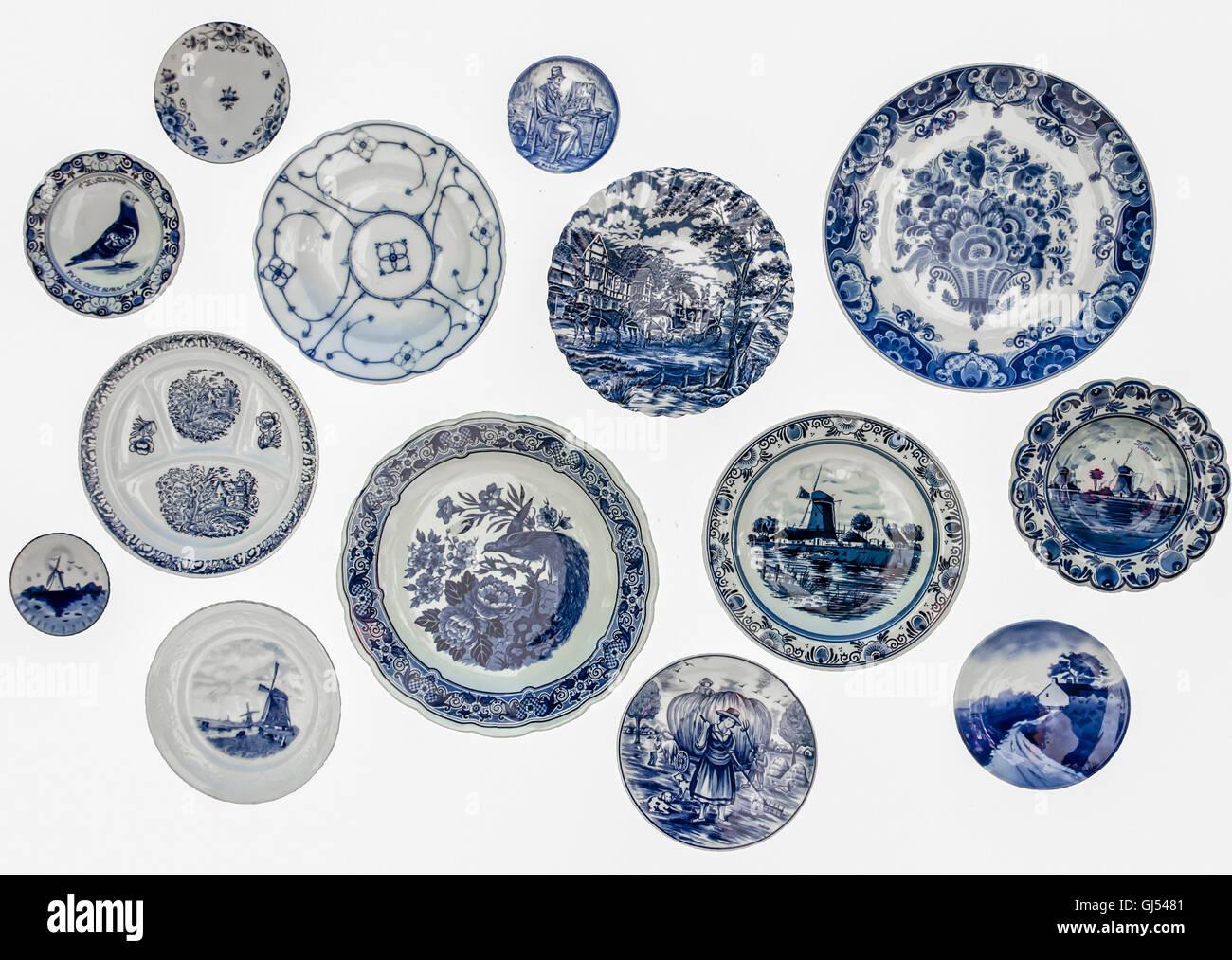Decorative plates from Holland. Dutch souvenir plates on the wall  sc 1 st  Alamy & Decorative plates from Holland. Dutch souvenir plates on the wall ...
