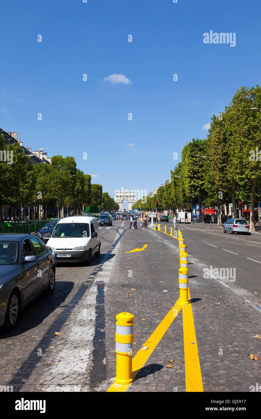 Paris Champs Elysees - Stock Image
