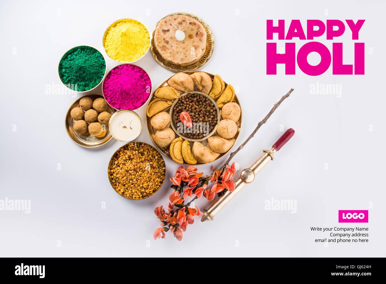 Happy holi greeting card holi wishes greeting card of indian stock happy holi greeting card holi wishes greeting card of indian festival of colours called holi seasons greetings m4hsunfo