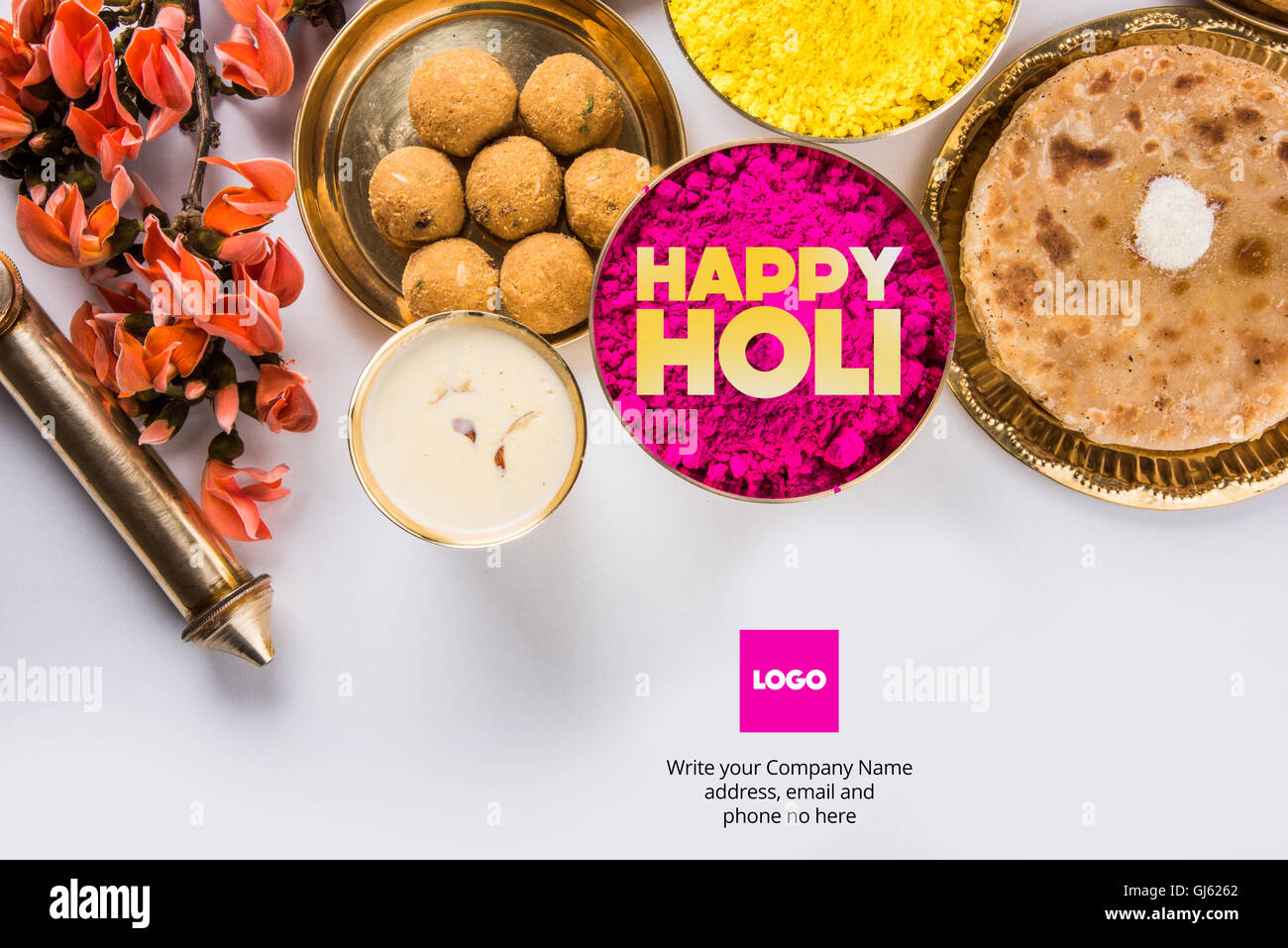 Happy Holi Festival Colors Greeting Stock Photos Happy Holi