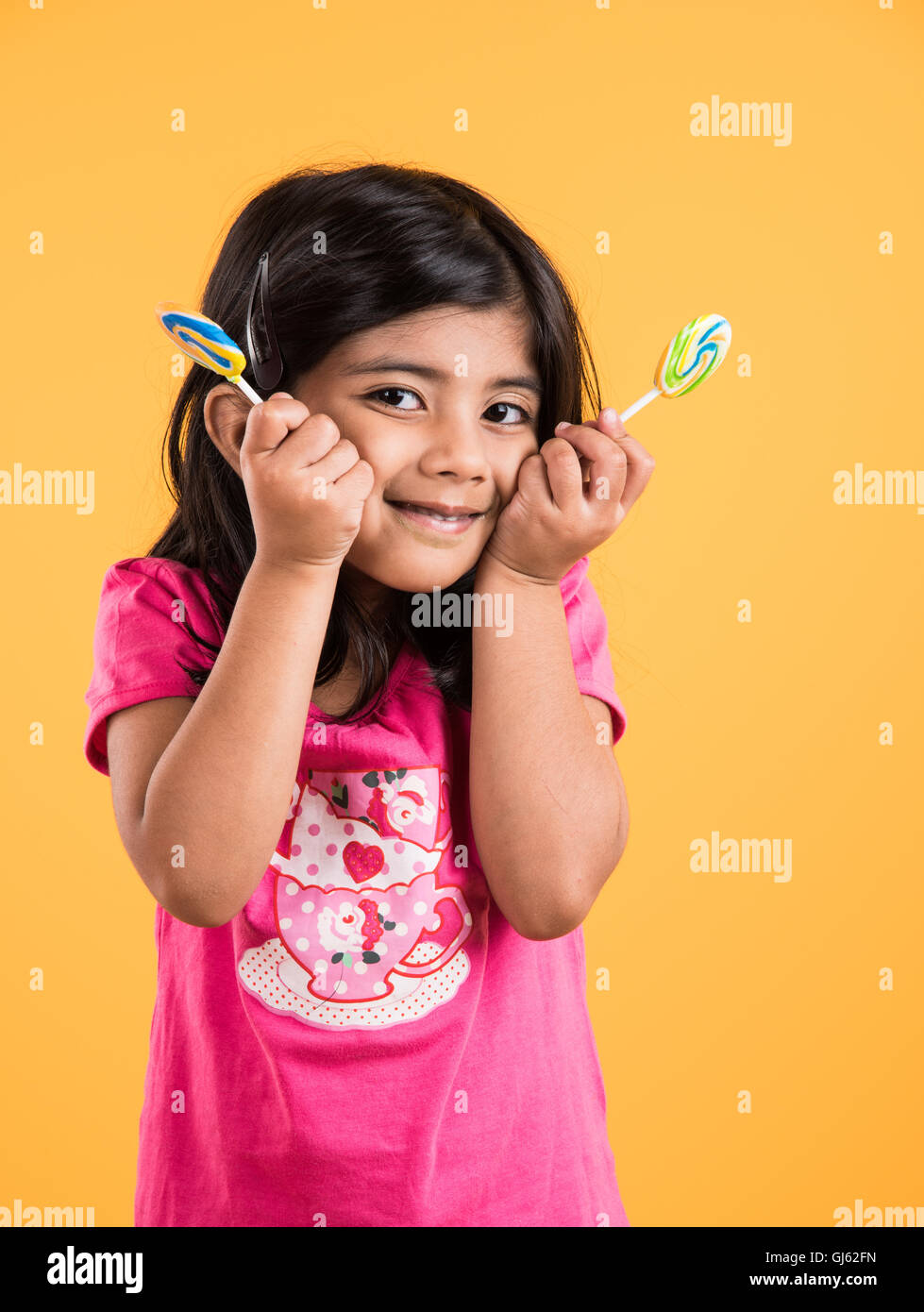 Indian Small Girl With Lolipop Or Loly Pop Asian Girl And Lolipop Or Lolypop