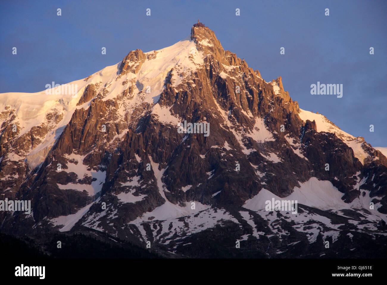 Aiguille du Midi, Mont Blanc, Frankreich. - Stock Image