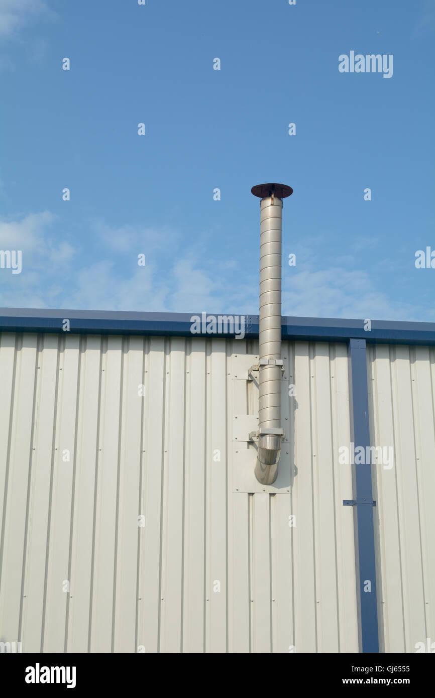 Ventilation chimney on factory roof Stock Photo: 114461793 - Alamy
