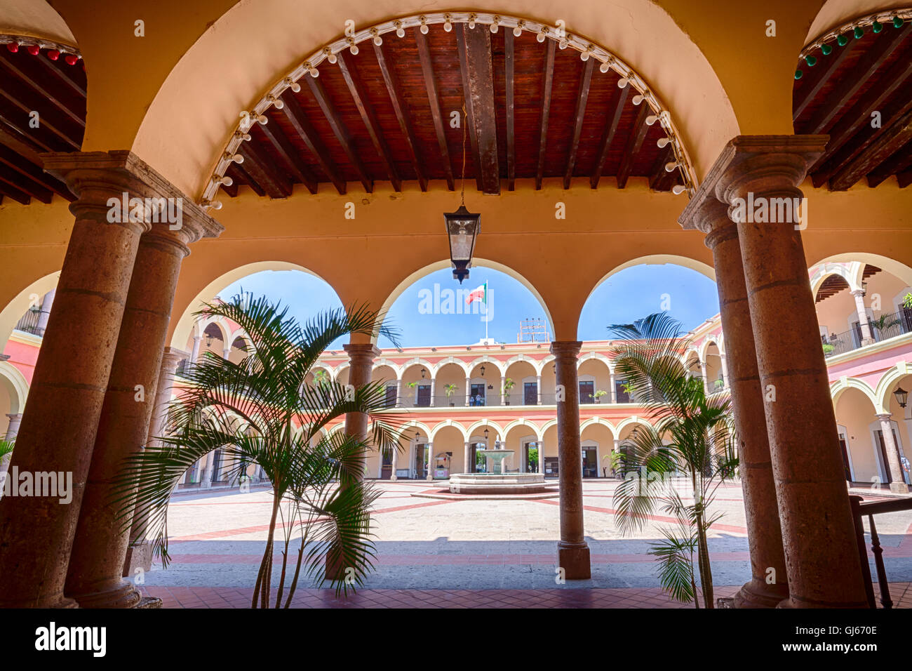 The colonial government palace of El Fuerte, Sinaloa, Mexico. - Stock Image