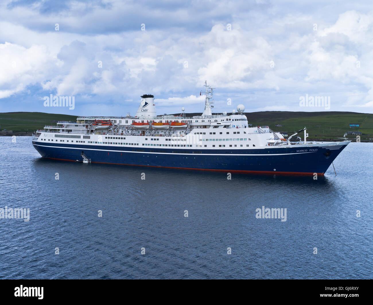 dh Marco Polo CRUISE SHIP UK CMV cruise ship Marco Polo lerwick shetland liner - Stock Image