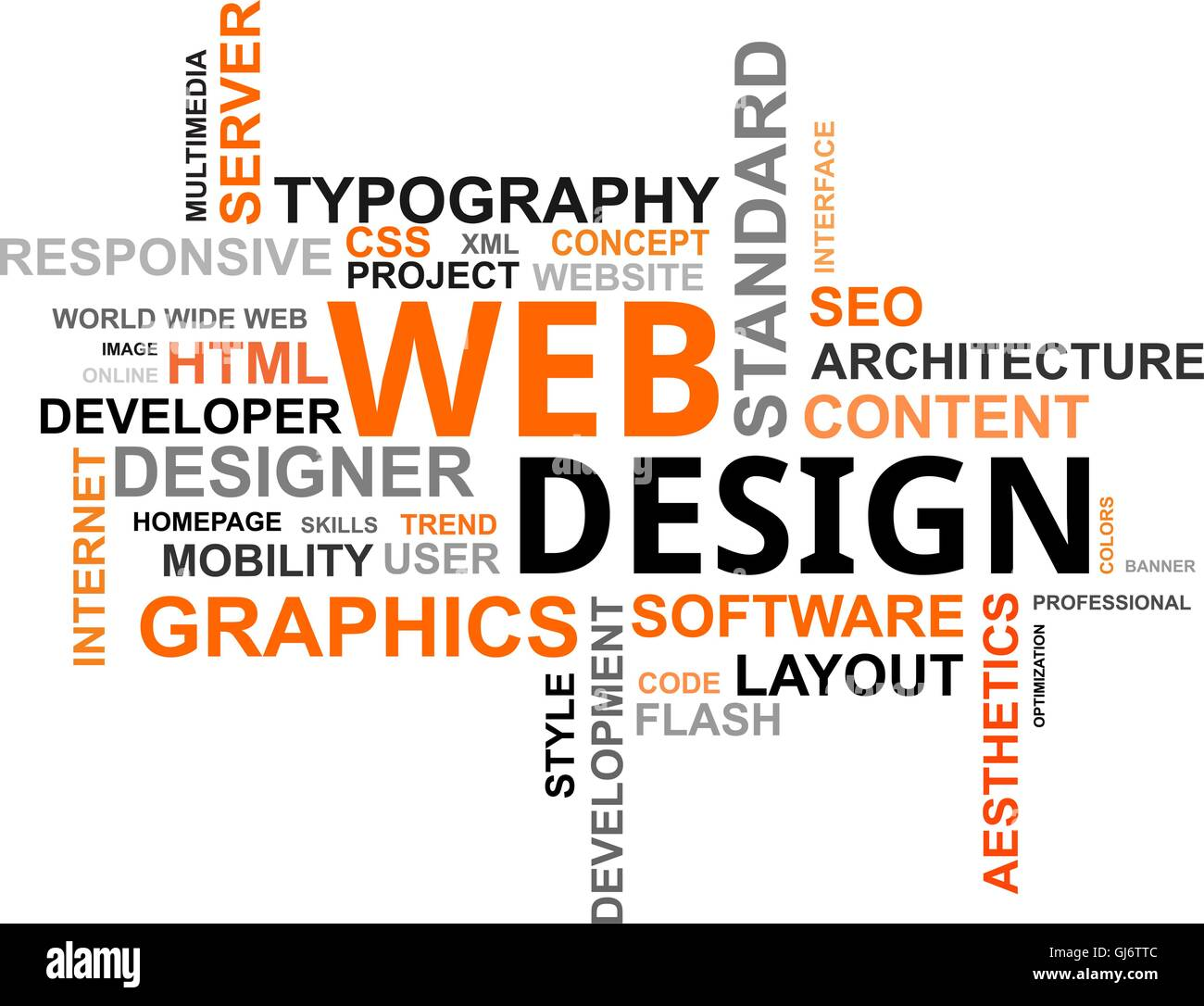 Word Cloud Web Design Stock Vector Art Illustration