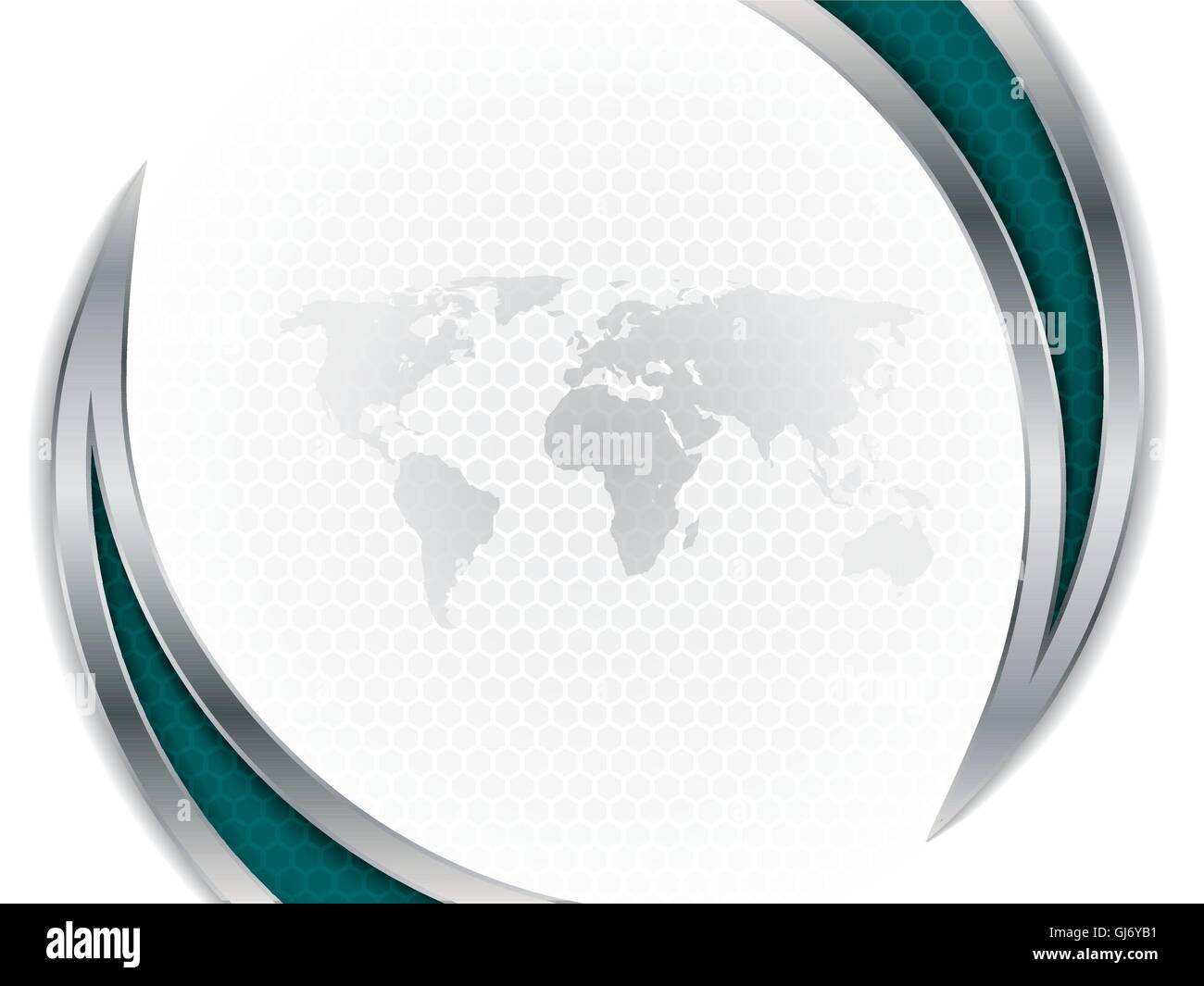 Company brochure design with hexagon and world map stock vector art company brochure design with hexagon and world map gumiabroncs Gallery