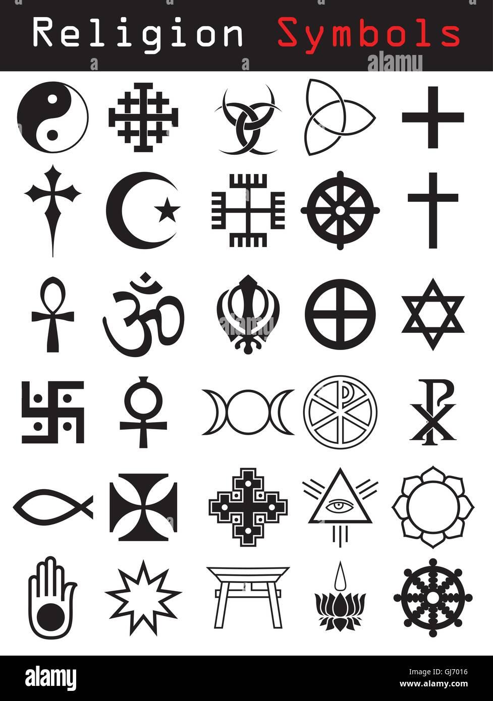 Religion symbols - Stock Image