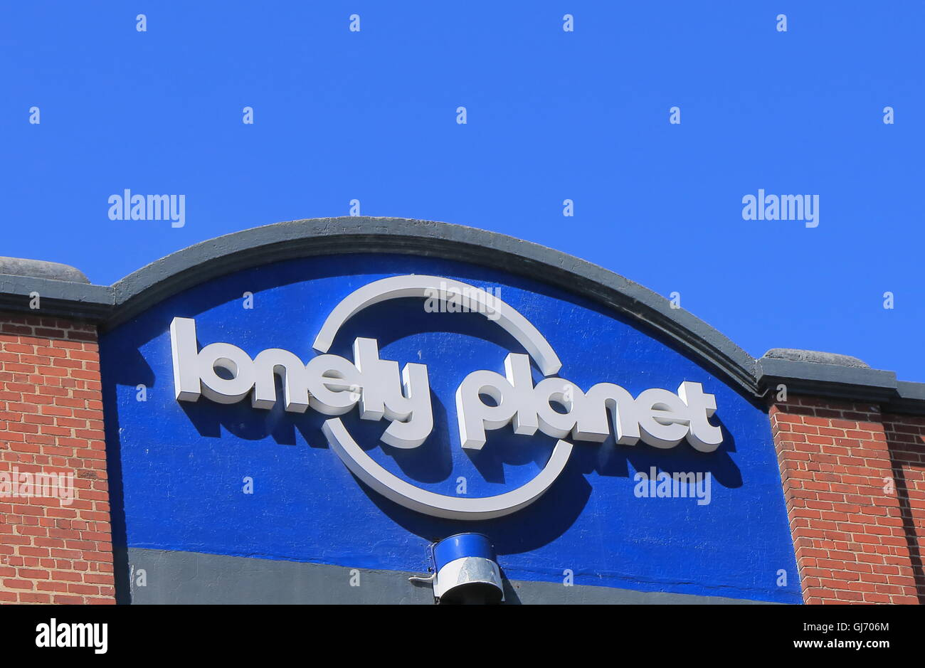 Lonely Planet , the largest travel guide book publisher in the world owned by American billionaire Brad Kelley's Stock Photo