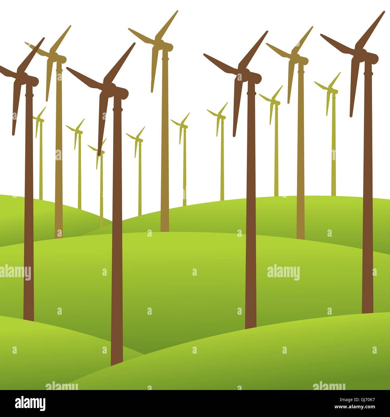 wind mill renewable energy background vector - Stock Image