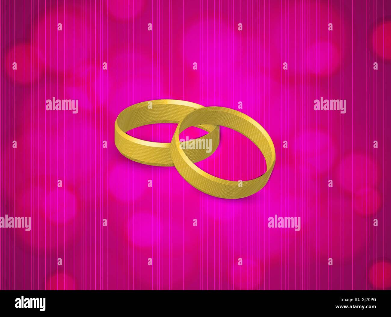Gold Wedding Rings Together Stock Vector Images - Alamy