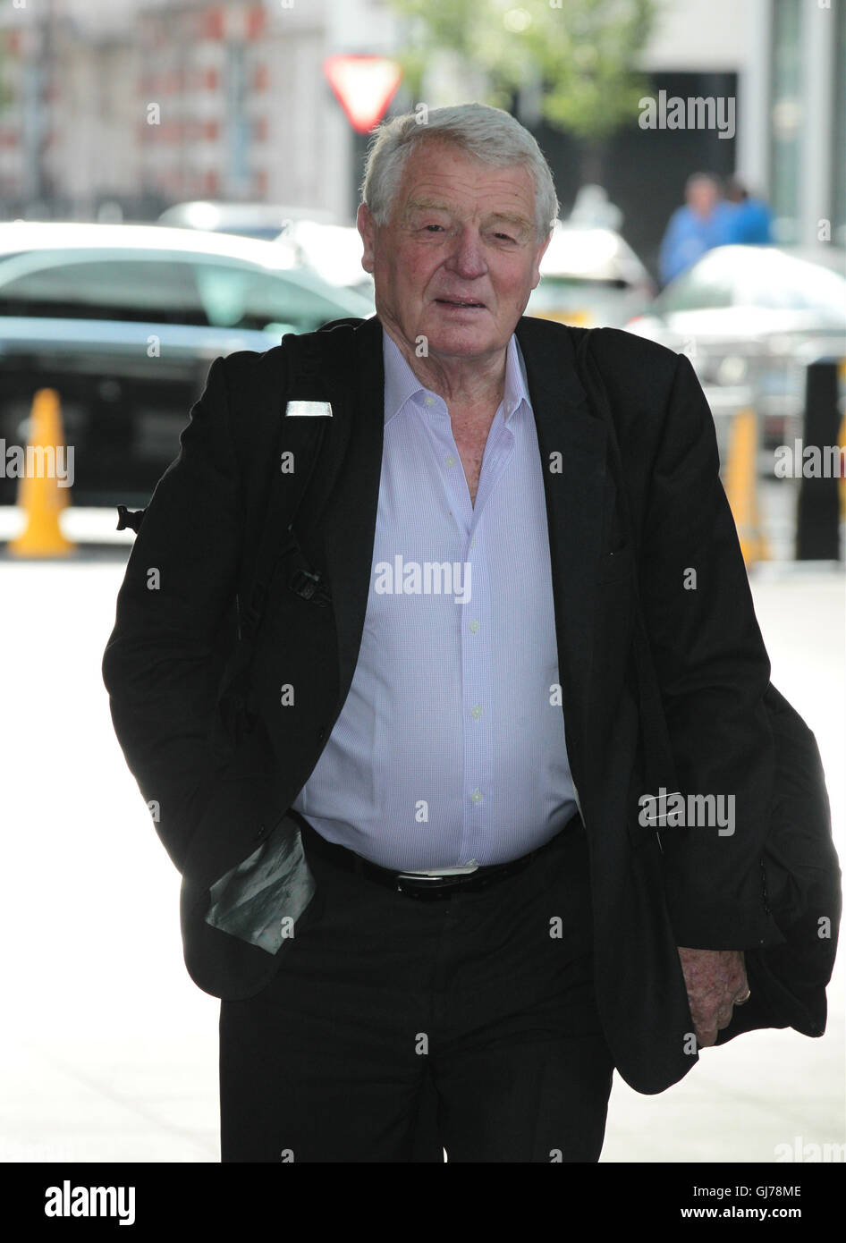 Paddy Ashdown seen at the BBC for the Andrew Marr show in London  - Jul,  24, 2016. - Stock Image